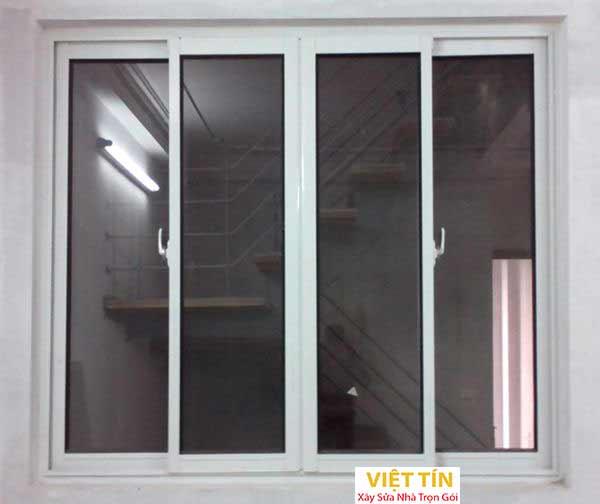 1 mẫu cửa sổ nhôm kính 4 cánh loại trượt