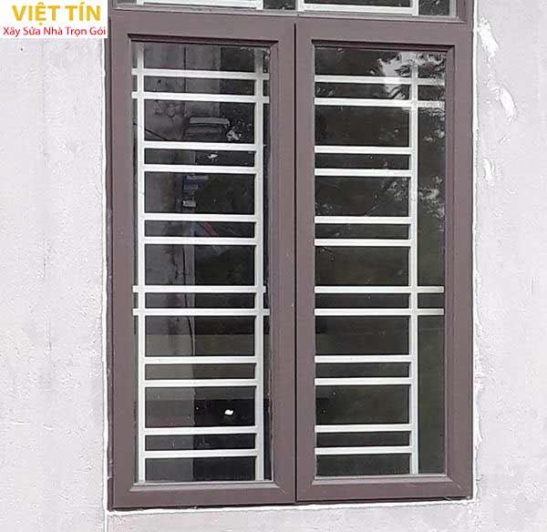 19 mẫu cửa sổ nhôm kính màu ghi