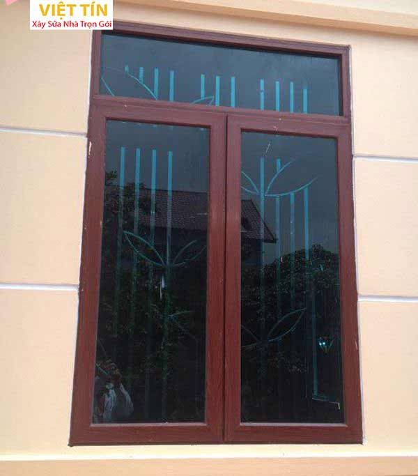 21 mẫu cửa sổ nhôm kính nâu đẹp