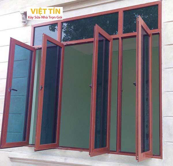 3 mẫu cửa sổ nhôm kính 4 cánh