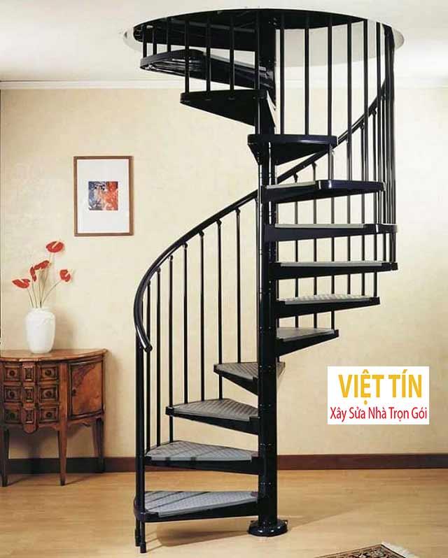 Cầu thang sắt hình xoắn ốc