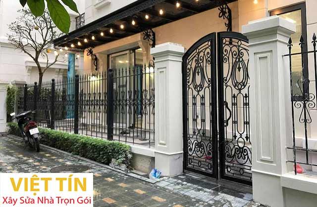 Hàng rào sắt là lựa chọn lý tưởng để đảm bảo an toàn cho ngôi nhà