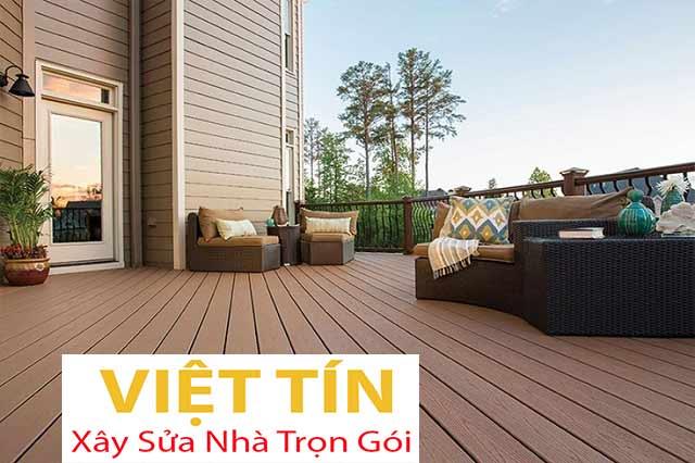 Sàn gỗ ngoài trời có khả năng chịu tác động bên ngoài rất tốt, giúp không gian ngoại thất đẹp mắt hơn
