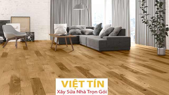 Thi công sàn gỗ giúp ngôi nhà trở nên sang trọng, ấm áp và đẳng cấp hơn