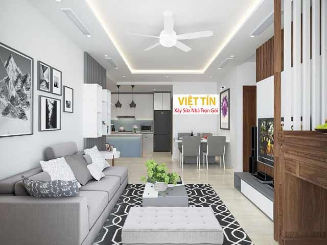 Thiết kế thi công nội thất giúp không gian sống thoải mái, đầy đủ tiện nghi