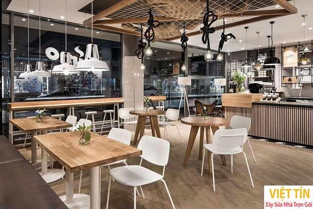 Thiết kế thi công nội thất quán cà phê
