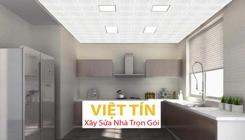 Trần nhôm 3d phòng bếp 2
