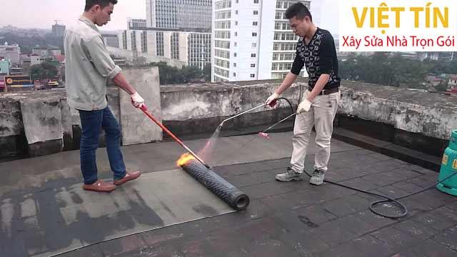 Biện pháp chống thấm bằng khò lửa màn nhựa