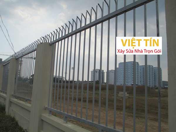 mẫu hàng rào sắt đặc cho các công trình lớn
