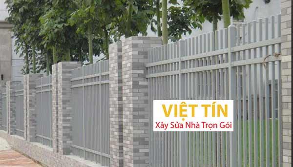 mẫu hàng rào sắt hộp đơn giản kiểu dáng hiện đại