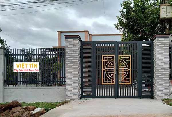 mẫu hàng rào sắt hộp hiện đại đẹp