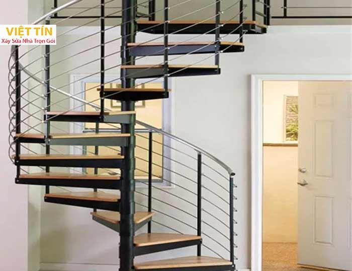 mẫu số 26 cầu thang hình xoắn ốc