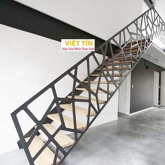 mẫu số 53 cầu thang sắt nghệ thuật đẹp