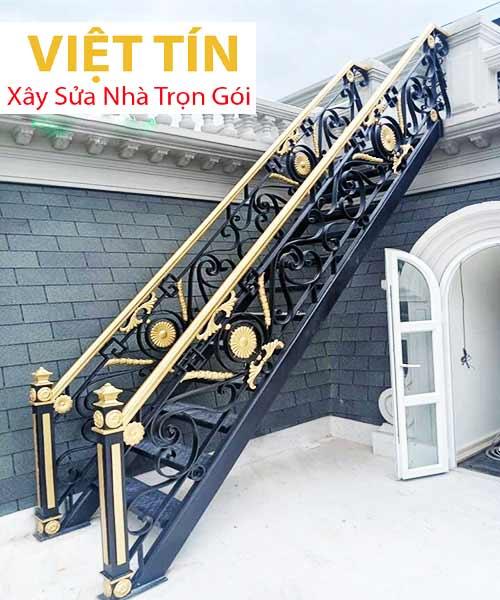 mẫu 28 cầu thang sắt nghệ thuật đẹp