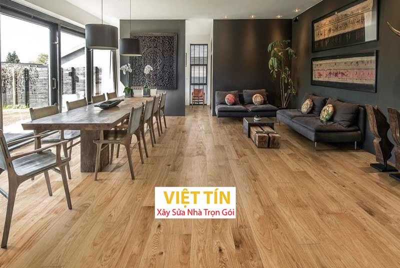 Sàn gỗ engineer mang lại không gian sang trọng