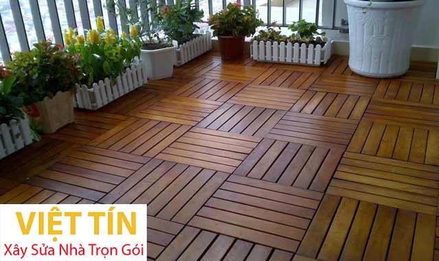 Sàn gỗ ngoài trời làm nổi bật vẻ đẹp của không gian