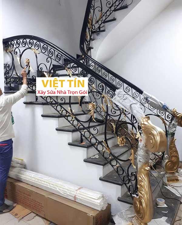 mẫu 11 cầu thang sắt mỹ thuật đẹp