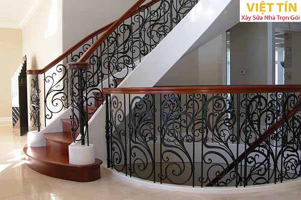 mẫu 12 cầu thang sắt mỹ thuật đẹp