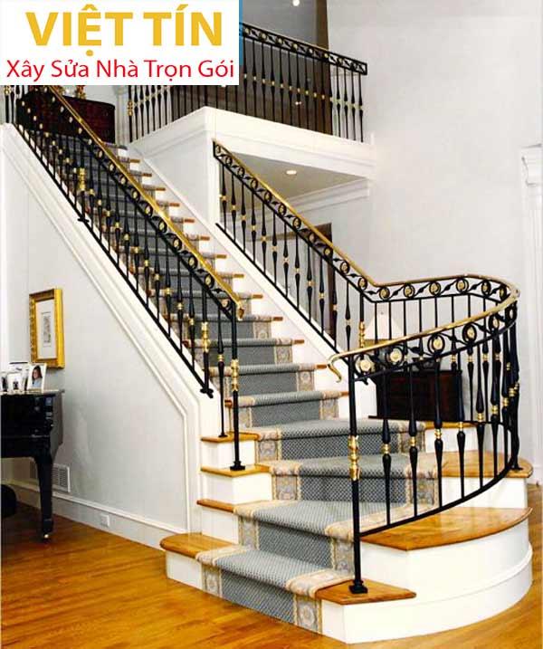 mẫu 13 cầu thang sắt mỹ thuật đẹp
