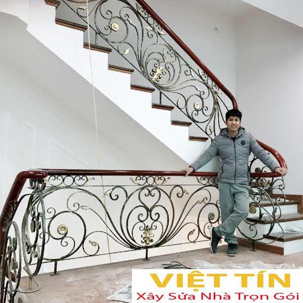 mẫu 22 cầu thang sắt mỹ thuật đẹp