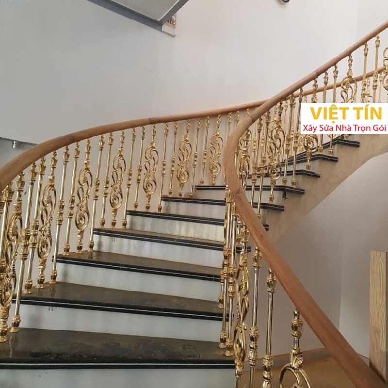 mẫu 23 cầu thang sắt mỹ thuật đẹp