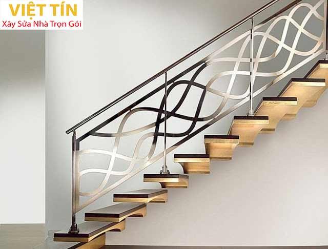 mẫu 25 cầu thang sắt mỹ thuật đẹp