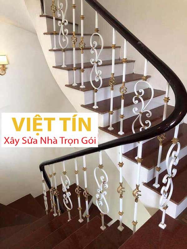mẫu 29 cầu thang sắt nghệ thuật đẹp