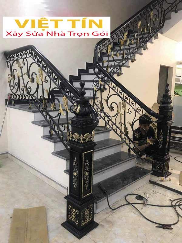 mẫu 7 cầu thang sắt mỹ thuật đẹp