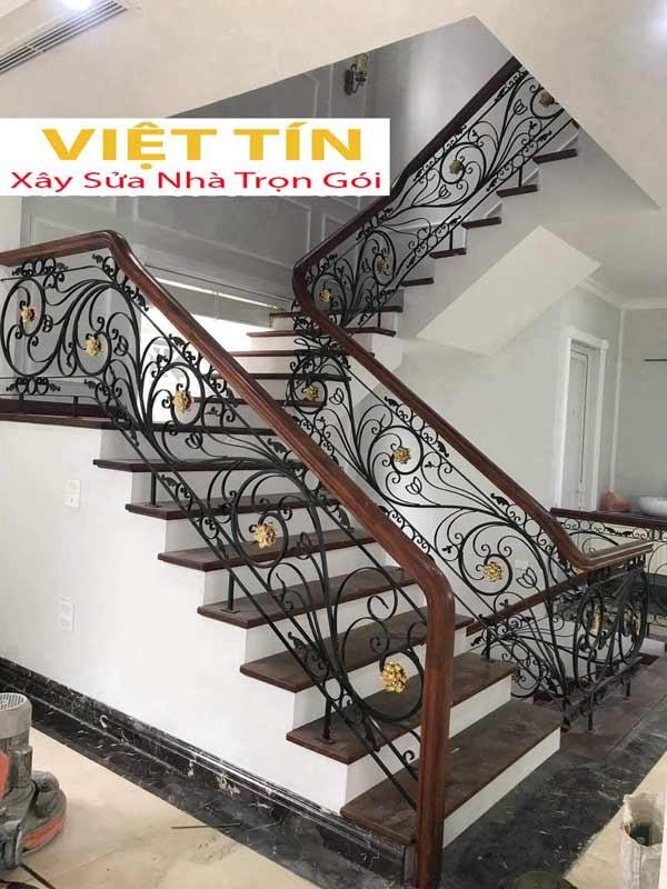 mẫu 8 cầu thang sắt mỹ thuật đẹp